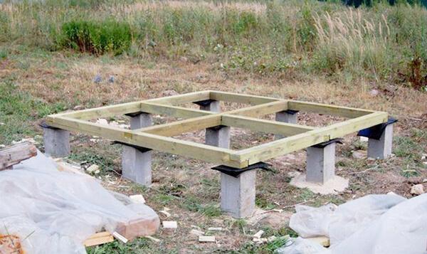 Фундамент для сарая на даче
