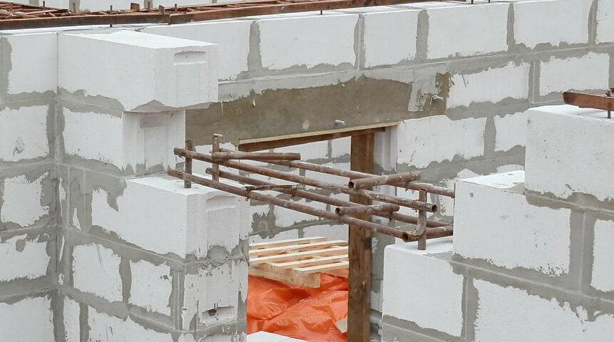 Возведение стен из газобетона